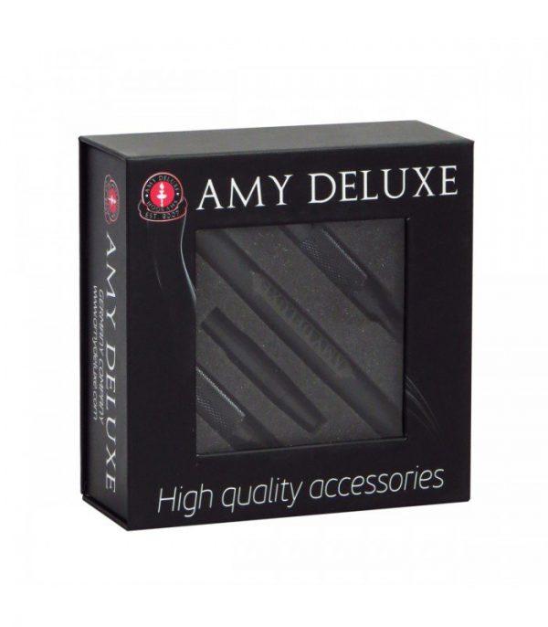 AMY Deluxe Siliconen Slang met Aluminum Mondstuk in Box S238 (zwart)